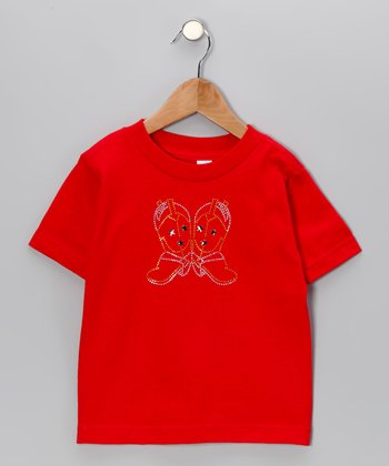 Red Bling Boots Tee - Toddler & Girls