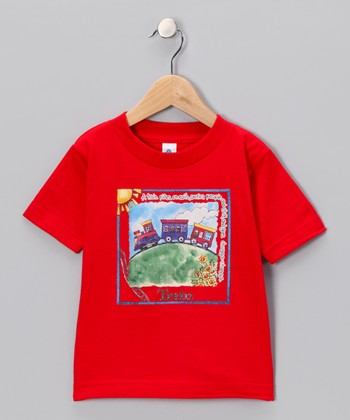 Red 'Train' Tee - Infant & Toddler