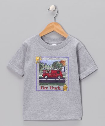 Heather 'Fire Truck' Tee - Infant & Toddler