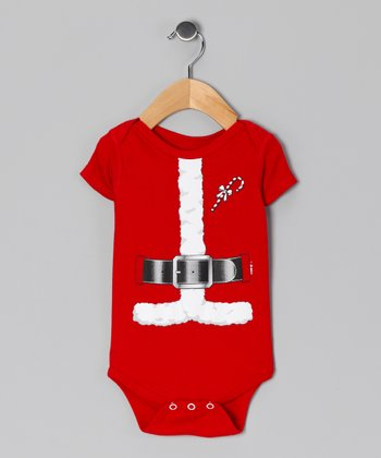Red Santa Suit Bodysuit - Infant