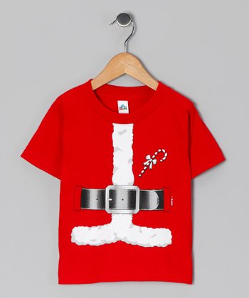 Red Santa Suit Tee - Toddler