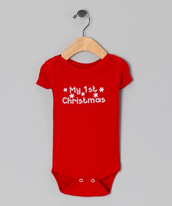 Red 'My 1st Christmas' Bodysuit - Infant