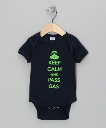 Navy 'Pass Gas' Bodysuit - Infant