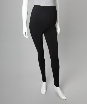 Black Organic Maternity Leggings