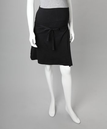 Black Organic Maternity Skirt