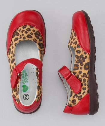 Red Cheetah Big Monica Leather Mary Jane