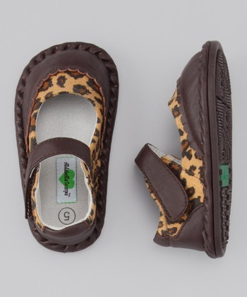 Brown Cheetah Monica Leather Mary Jane