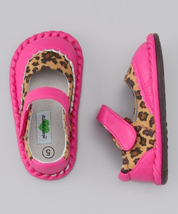 Hot Pink Cheetah Monica Leather Mary Jane