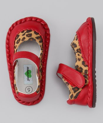 Red Cheetah Monica Leather Mary Jane
