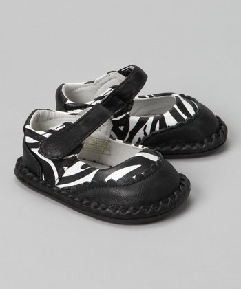 Black Zebra Monica Leather Mary Jane