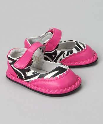 Hot Pink Zebra Monica Mary Jane
