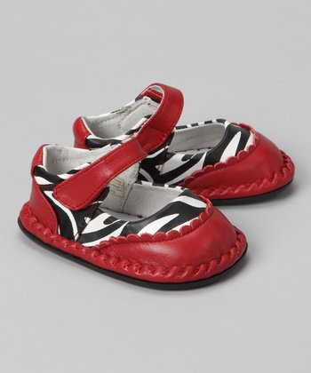 Red Zebra Monica Leather Mary Jane