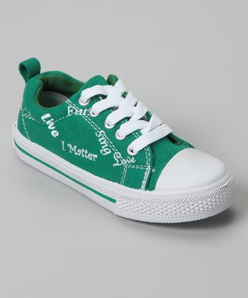 Green Monique I Matter Sneaker