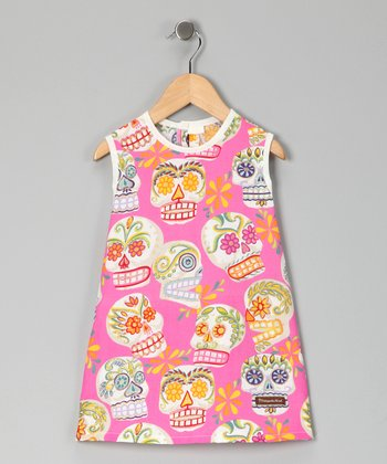 Fuchsia Calaveras Jumper - Infant, Toddler & Girls