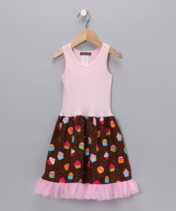 Chocolate Cupcake Birthday Dress - Infant, Toddler & Girls