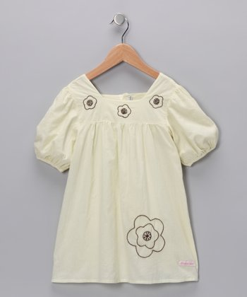 Natural Embroidered Flower Dress - Infant, Toddler & Girls