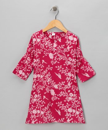 Fuchsia Birdie Dress - Infant & Toddler