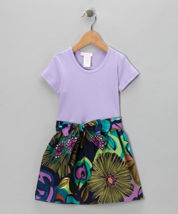 Lavender Jewel Sash Dress - Infant, Toddler & Girls