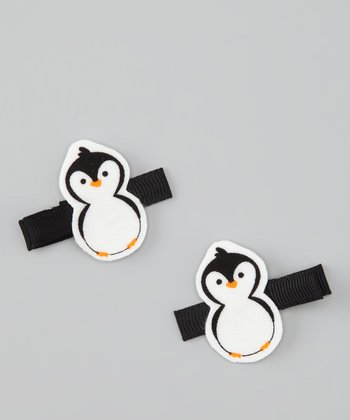 Black & White Penguin Clip Set