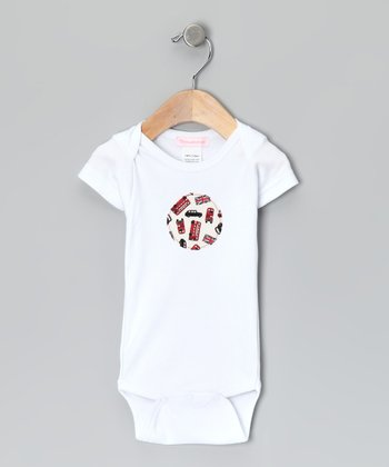 White London Circle Organic Bodysuit - Infant