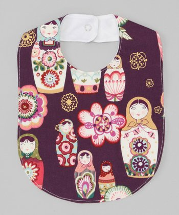 Purple Matryoshka Doll Bib