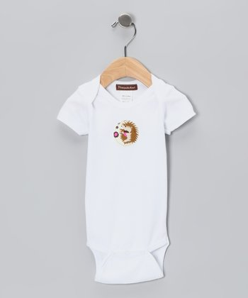 White Hedgehog Organic Bodysuit - Infant