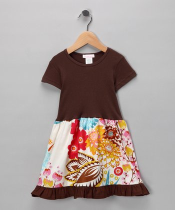 Brown Floral Tiered Twirl Dress - Infant & Toddler