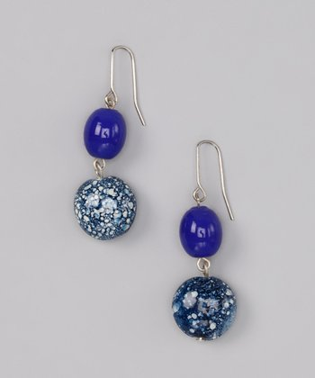 Blue Double-Drop Earrings