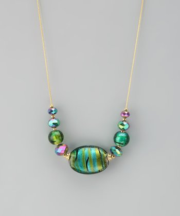 Emerald Murano Glass Necklace