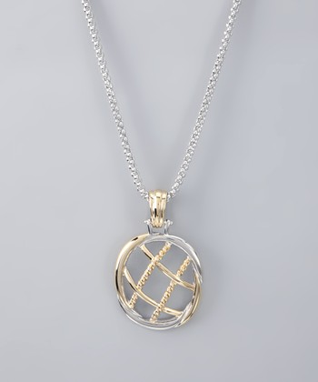 Silver Rope Pendant Necklace
