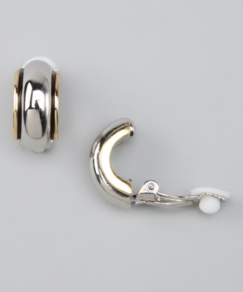 Silver & Gold Trim Earrings