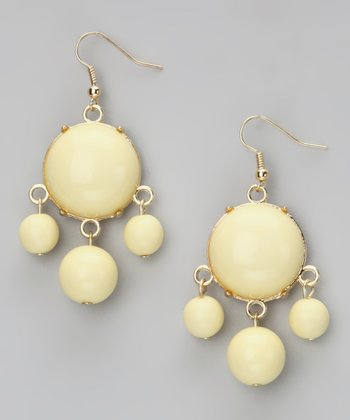Jewelry Yellow Bubble Drop Earrings