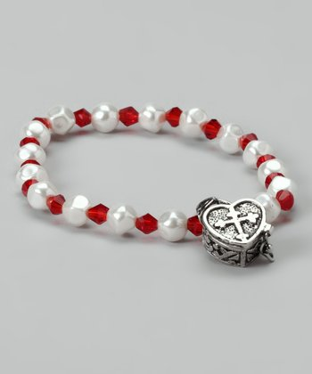 Red Heart Prayer Box Bracelet