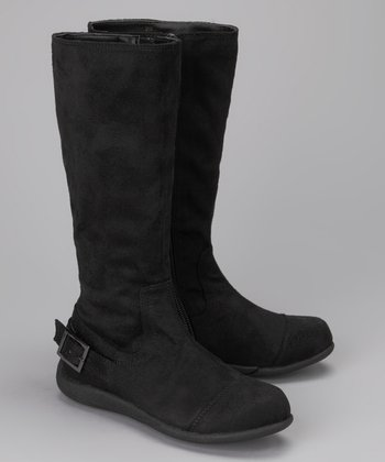 A Line Black Suede Boot