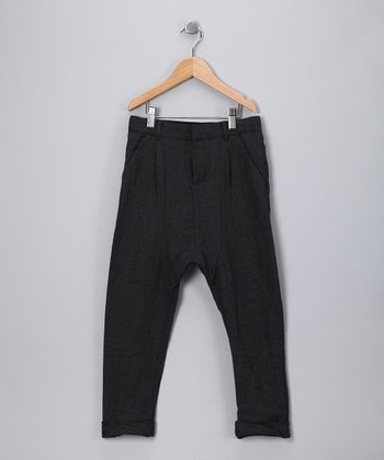 Charcoal Wool Pants - Toddler & Kids