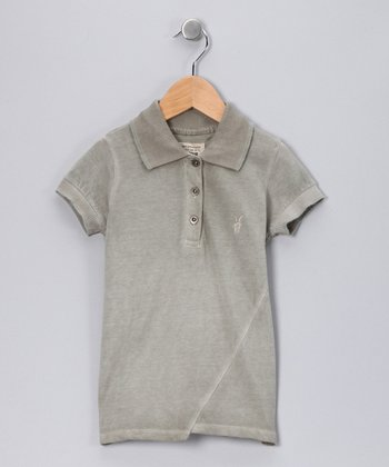 Cement Twist Spray Polo - Toddler & Kids