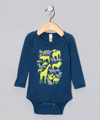 Galaxy Animal Organic Long-Sleeve Bodysuit - Infant