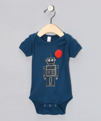 Galaxy Balloon Bot Organic Short-Sleeve Bodysuit - Infant