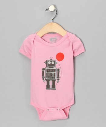 Pink Balloon Bot Organic Bodysuit - Infant