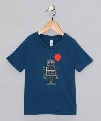 Galaxy Balloon Bot Organic Short-Sleeve Tee - Toddler & Kids