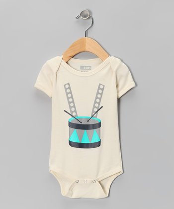 Natural Drums Organic Short-Sleeve Bodysuit - Infant