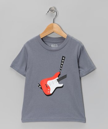 Asphalt Electric Guitar Organic Short-Sleeve Tee - Toddler & Kids