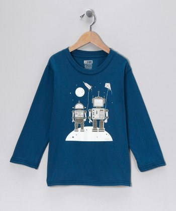 Galaxy Robot Kites Organic Long-Sleeve Tee - Infant