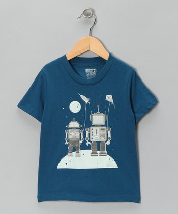 Galaxy Robot Kites Organic Short-Sleeve Tee - Toddler & Kids