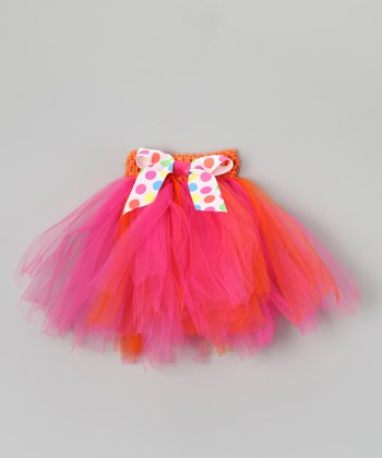 Pink & Orange Bow Tutu - Infant, Toddler & Girls