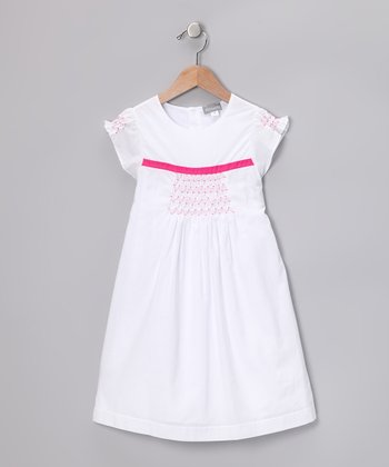 White Smocked Carioca Dress - Infant, Toddler & Girls