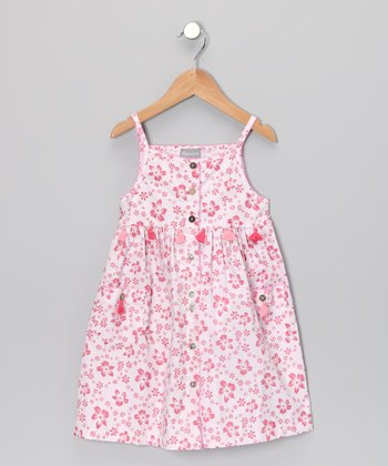 Pink Floral Pocket Dress - Infant & Girls