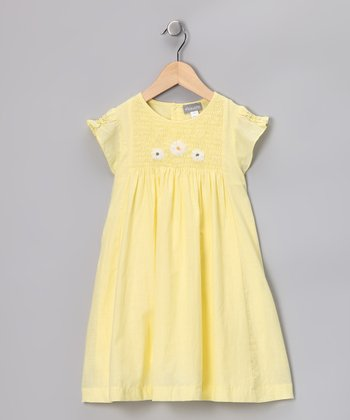 Yellow Smocked Catherine Dress - Infant, Toddler & Girls