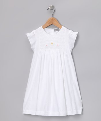 White Smocked Catherine Dress - Infant, Toddler & Girls