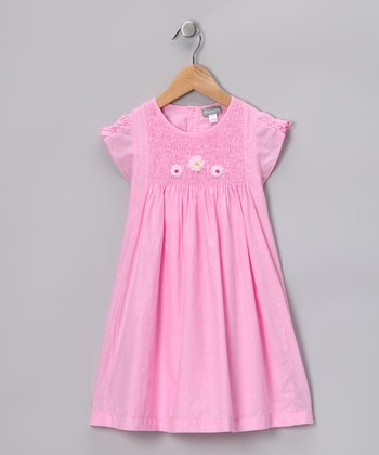 Pink Smocked Catherine Dress - Infant, Toddler & Girls